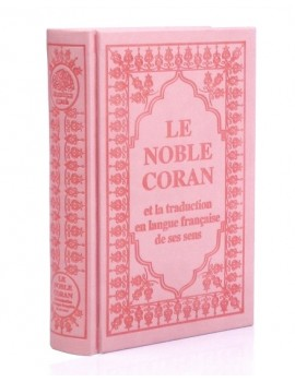 Le Noble Coran bilingue français/arabe Rose poudré