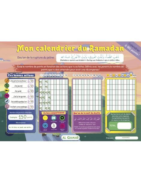 Mon calendrier du mois de Ramadan