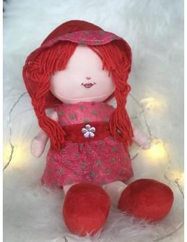 Peluche Malika - Grande poupée de 40 cm sans les yeux