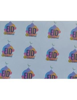 Lot de 12 autocollants Eid Mubarak