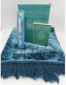 Coffret Coran bleu/vert