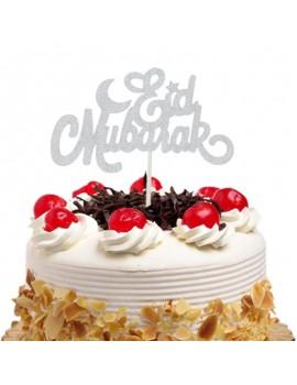 "Topper à gâteau ""Eid Mubarak"" Argent"