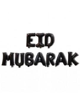 """Banderole """"Eid Mubarak"""" noire"""