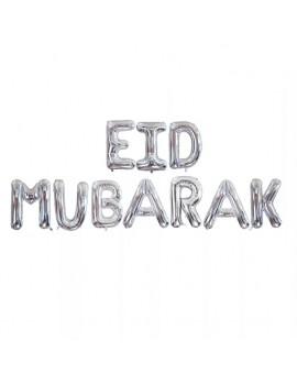 "Banderole ""Eid Mubarak"" argentée"