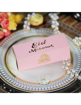 "Boîte ""Eid Mubarak"" rose"