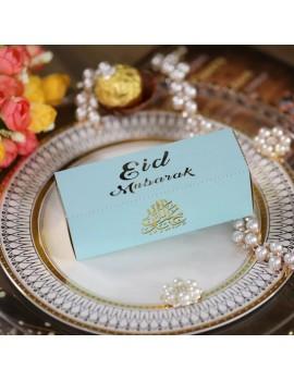 "Boîte ""Eid Mubarak"" bleu"