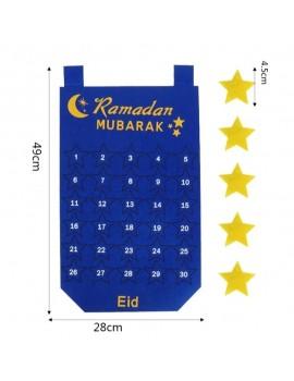 Poster en tissu du Ramadan bleu