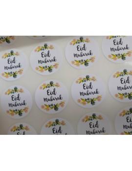 Lot de 10 autocollants eid mubarak