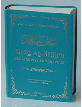 Riyad As-Salihîn - Le jardin des vertueux (couverture bleue pétrole dorée)