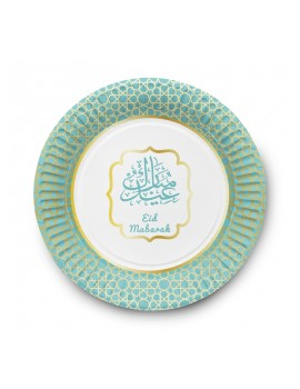 "Lot de 6 assiettes ""Eid Mubarak"""