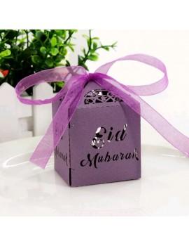 """Boîte à bonbons """"Eid Mubarak"""" - Couleur Violet"""