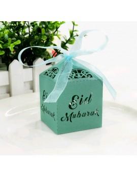 "Boîte à bonbons ""Eid Mubarak"" - Couleur Emeraude"