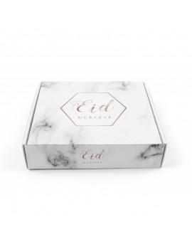 "Boîte à gâteaux ""Eid Mubarak"" marbre"