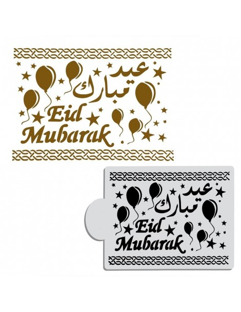 "Pochoir à gâteau ""Eid Mubarak"""