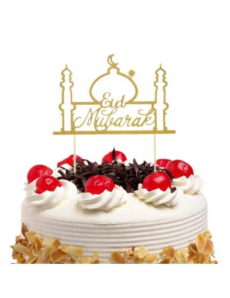 "Topper à gâteau ""Eid Mubarak"" doré"