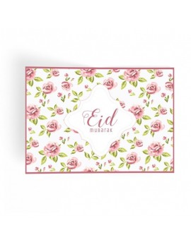 "Lot de 6 sets de table ""Eid Mubarak"" Fleuri"