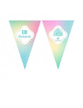 "Grande banderolle ""Eid Mubarak"" Pastel"