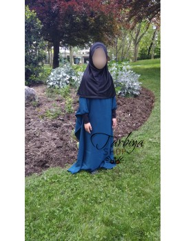 Abaya papillon fille
