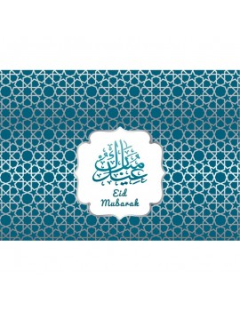 "Lot de 6 sets de table ""Eid Mubarak"" Bleus"