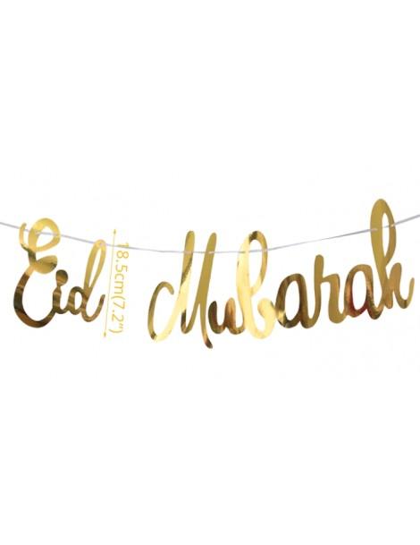 "Banderolle ""Eid Mubarak"" dorée"